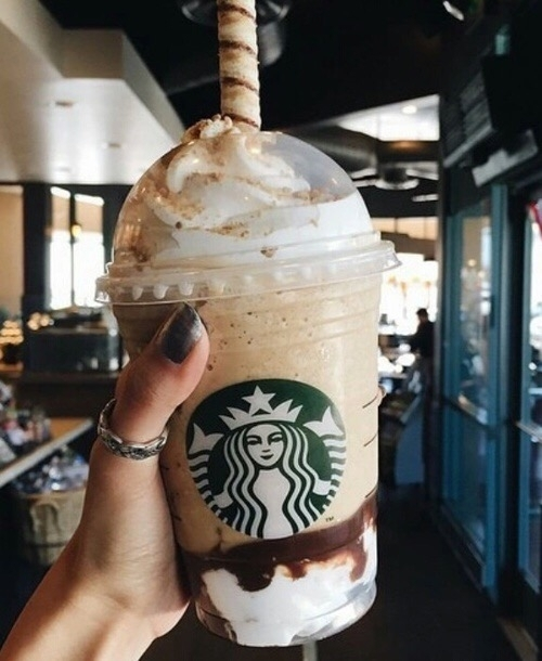 Starbucks, sculpture, costume, headgear,