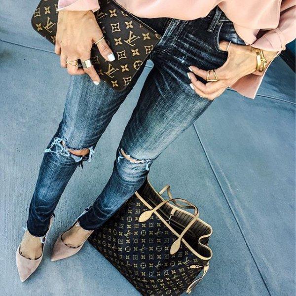 jeans, clothing, denim, footwear, handbag,