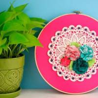7 Fun Embroidery Hoop Art Crafts ...