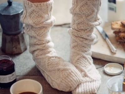 Knitting Pattern For Socks In Chunky Wool : 8 Chunky Knit Socks to Wear around the House This Winter ...