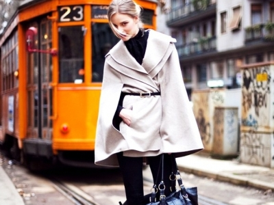 7 Ideas for What to Wear with Winter Cape Coat ...