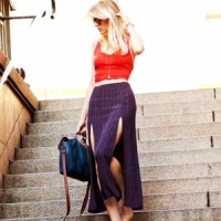 7 Thigh High-Slit Maxi Skirts for Fall ...