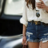 7 Ways to Wear High Waist Denim Shorts like a Diva ...