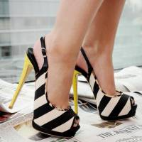 Jazz up Your Wardrobe with These 32 Pairs of Striped High Heels ...