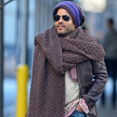 A Look We'll Never Forget - when Lenny Kravitz's Scarf Game Was Just TOO Strong ...