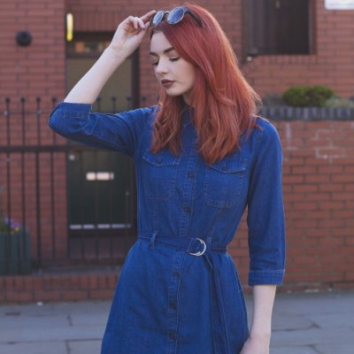 21 Women Rocking the Denim Dress ...