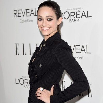 Red Carpet Look of the Day: Emmy Rossum's Menswear-Inspired Suit ...