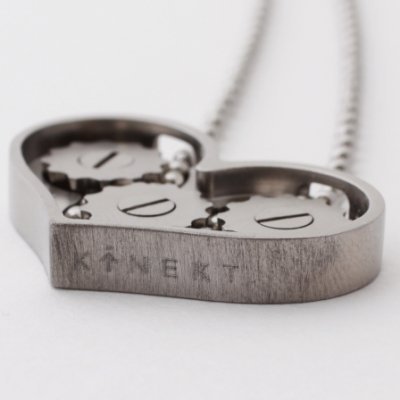Shift Your Jewelry into Gear with Kinekt Design's Heart Necklace ...