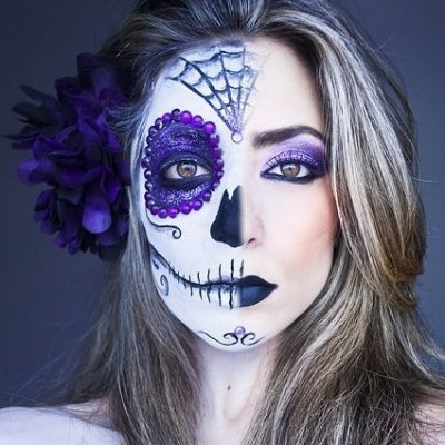 Hauntingly Beautiful Sugar Skull Makeup Found on Pinterest ...