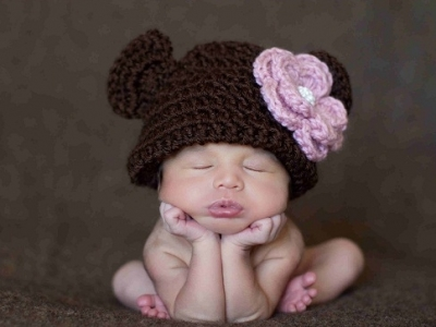 Giveaway Contest: Handmade Knit Baby Hat by Kids' Precious Couture...