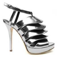 5 Chic Metallic Jerome C. Rousseau Sandals ...