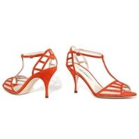 4 Stylish Orange Brian Atwood Sandals ...