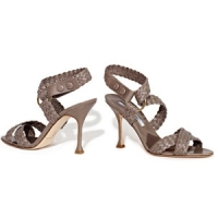3 Glamorous Taupe Brian Atwood Sandals ...