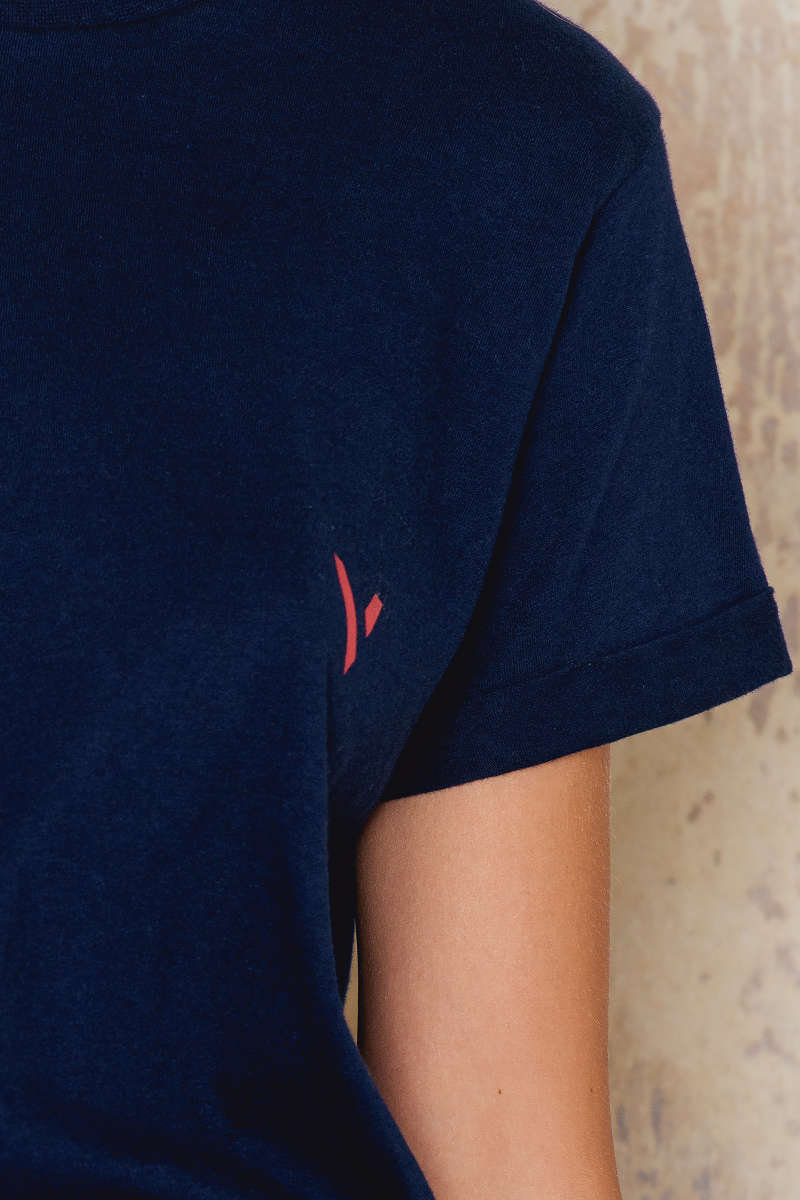 Melange Print T-shirt by IMVEE