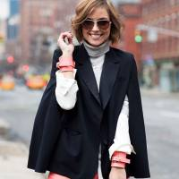 7 Street Style Ways to Wear a Cape Jacket This Fall ...