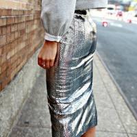 These Street Style Outfits Will Inspire You to Try the Metallic Trend ...