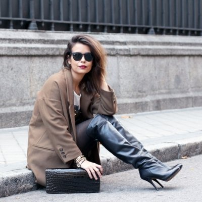 7 Sexy Street Style Ways to Rock Knee High Boots ...