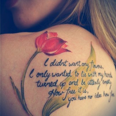 Here Are the Poetry Tattoos Lovely Enough to Compare to a Summer's Day ...