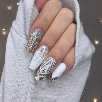 New Year's Eve Nail Art 💅🏼 for Girls Who Want to Start the Year with Style🎊 ...