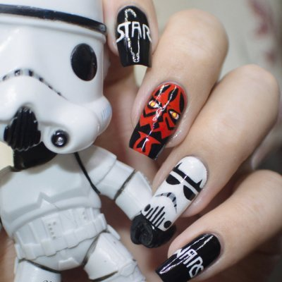 Awaken the Force with Star Wars Nail Art ...