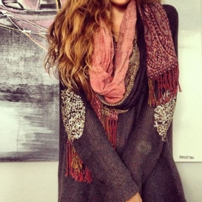 21 Stylish Ways to up Your Scarf Game without Freezing to Death ...