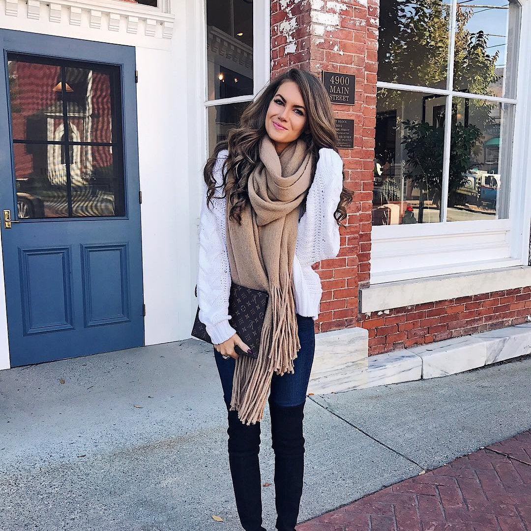 11 Gorgeous 😍 and Cozy 😊 Scarves 🧣 for Girls Who Get Cold ❄️ Easily ...