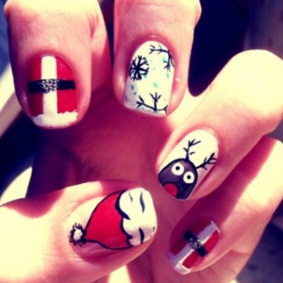 Apply This Christmas Nail Art before Your Holiday Party ...