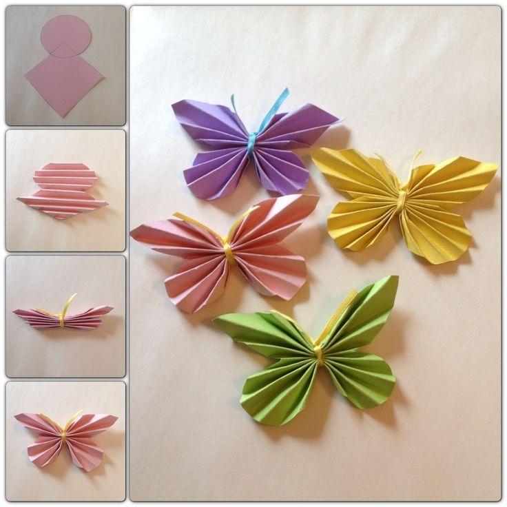 Бабочки из бумаги своими руками как сделать