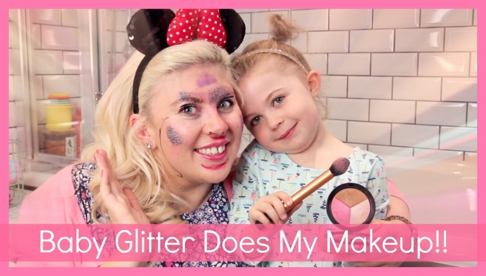Baby Glitter Does My Makeup 🎥