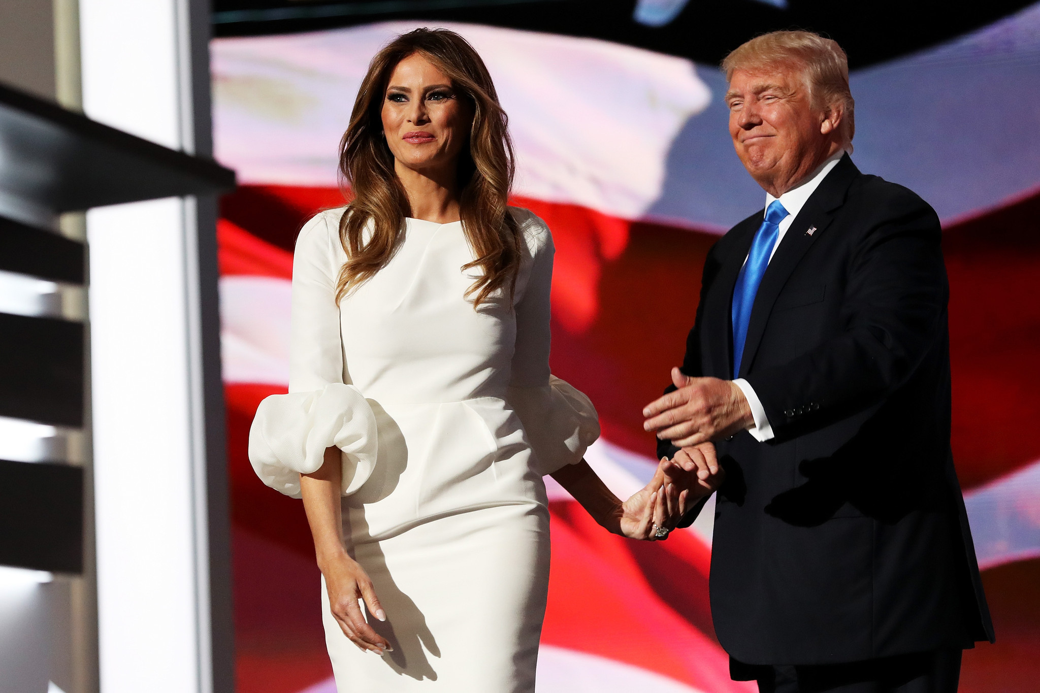 The $2,190 White Dress Melania Trump Wore at the Republic National Convention Sold out in an Hour ...