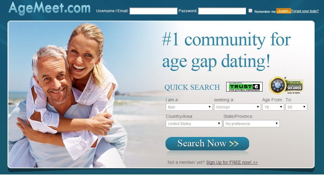 young dating site Age gap dating site do you believe in may-december relationships so does agematchcom, a website specifically designed for older men with younger women relationships and older women with younger men relationships.