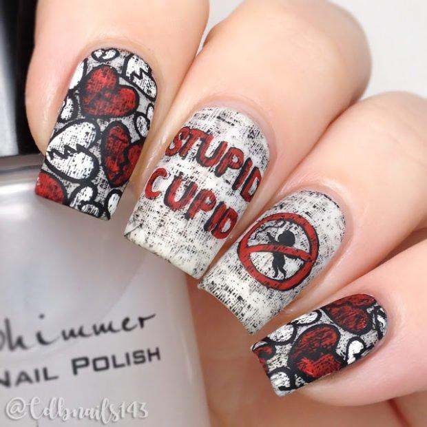 7 Amazing Anti Valentines Day Nail Art Ideas Community