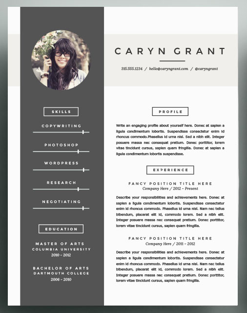 Beautiful Resume Templates Inspiration To Take Into 48 Community