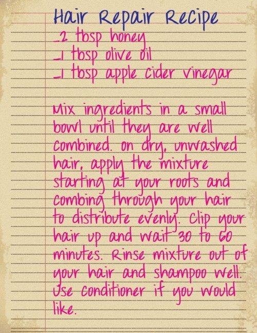 DIY Natural Hair Repair Recipe w/ Honey and Olive Oil