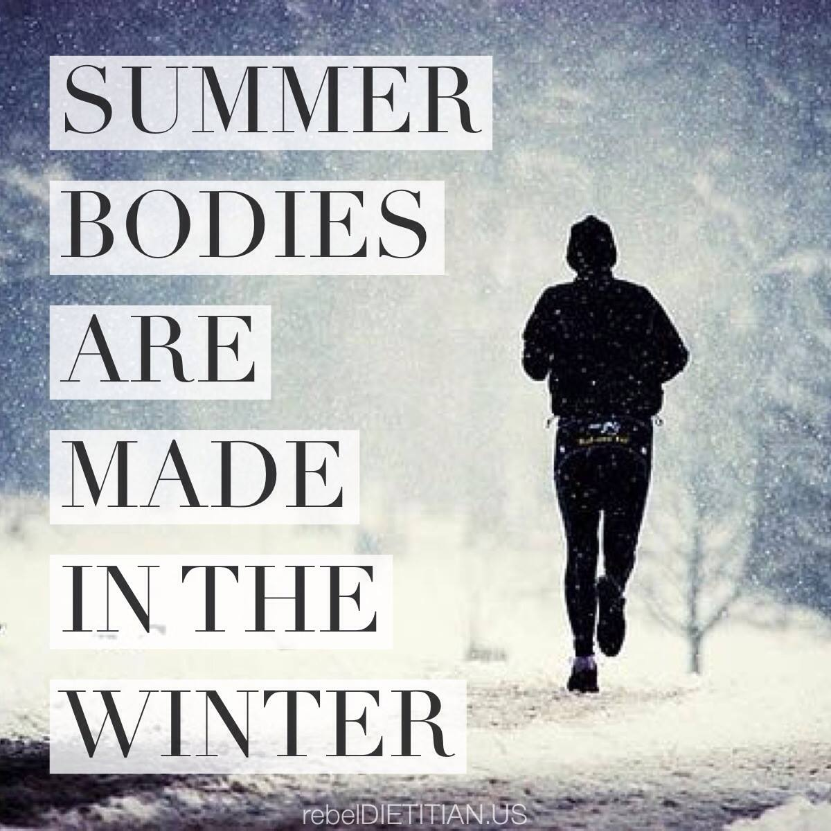 Getting in Shape During the Winter Season...
