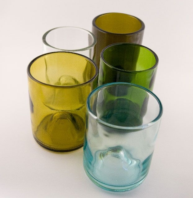 What a great wine gift! Recycled Wine Bottle Glasses