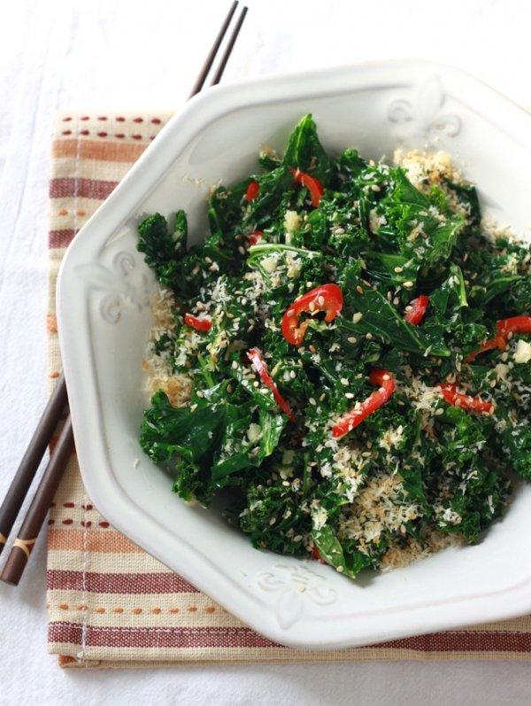 Chili Roasted Kale