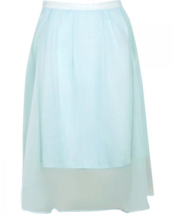 Boohoo Organza Overlay Midi Skirt