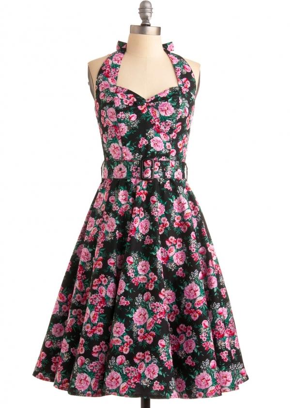 A Fall Floral Dress