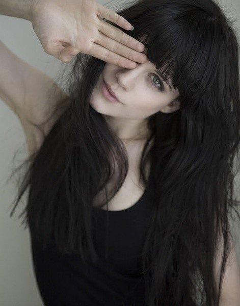 hair, hairstyle, long hair, bangs, black hair,
