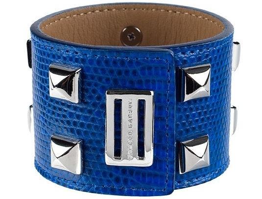 Farbod Barsum Ring Lizard Cuff Bracelet in Electric Blue
