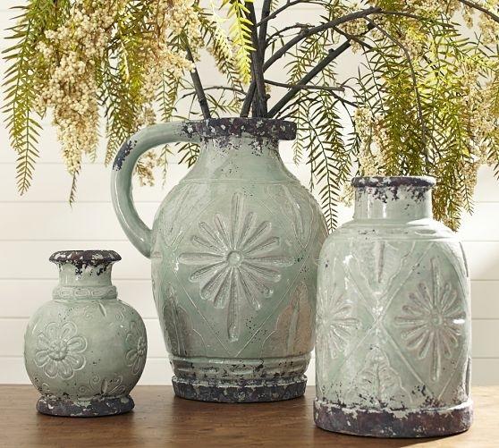 Carolina Vases from Pottery Barn