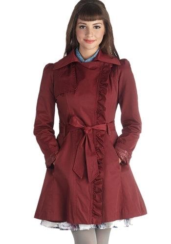 Metropolitan Miss Coat in Wine