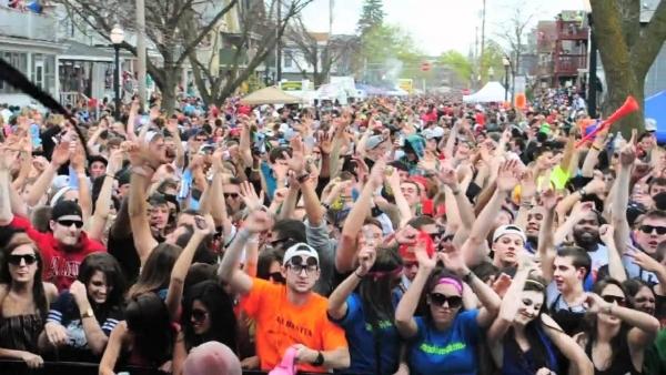 Mifflin Street Block Party at Wisconsin-Madison