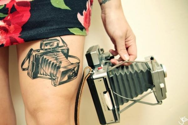 Vintage Camera Tattoo
