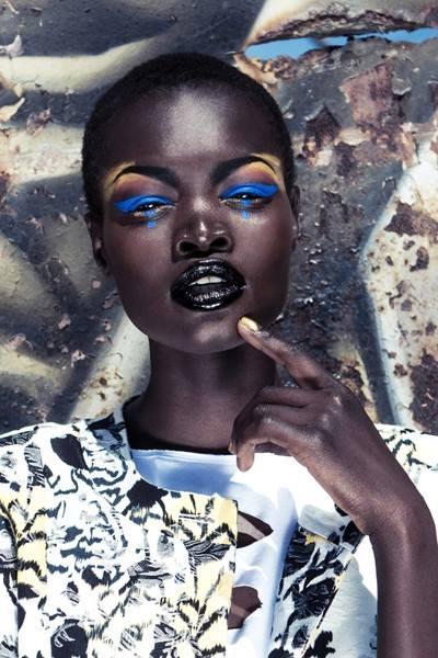 very dark skin black girl