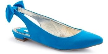 Bow Slingback Flat Shoes