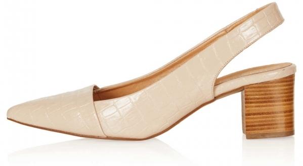 Nude Slingback Court Shoes