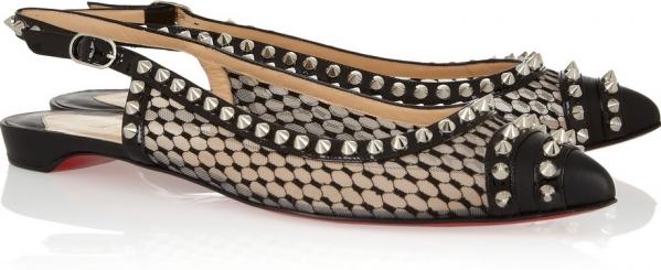 Studded Slingback Shoes