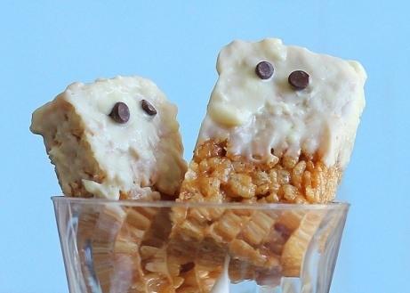 Peanut Butter Krispy Ghost Treats